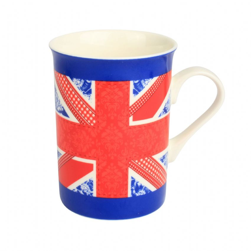 Blue Band Union Jack - Gleneagles of Edinburgh Fine China Mugs